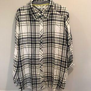 Women's Flannel Patterned Blouse